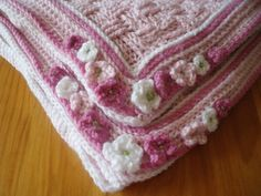 Thursday's handmade love week 62 Theme: baby girl blankets Includes links to free crochet patterns  Baby Blanket Crochet Pattern via Etsy