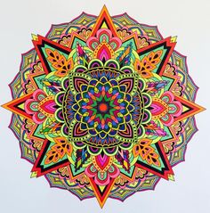 ColorIt Mandalas to Color Volume 1 Colorist: Jan Long #adultcoloring…