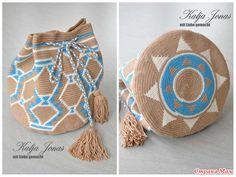 The bag of Mochila (on-line / MK) Tapestry Crochet Patterns, Crochet Motif, Crochet Hooks, Knit Crochet, Crochet Handbags, Crochet Purses, Mochila Crochet, Tapestry Bag, Boho Bags
