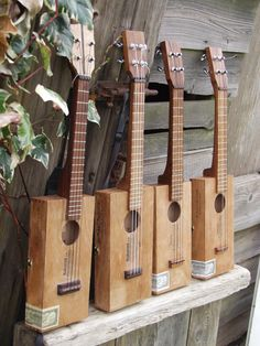 STONE cigar box ukuleles, these are as loud as a standard intrument, not your average cigar box on a stick!