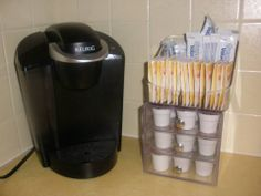 Clever Container's Bin Coffee-$12 and 3-Drawer Vanity-$20 www.mycleverbiz.com/lpulverenti