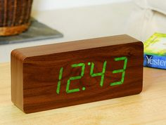 Time can be; smart, clever, functional and simple with this SLAB walnut…
