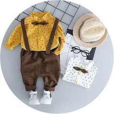 Infant Kids Clothes Set Baby Girls Boys Star Print T-shirt+Solid Plaid Overall Pants Toddler Boy Autumn Clothing Outfits 30 Baby Outfits Newborn, Baby Boy Outfits, Kids Outfits, Baby Newborn, Family Outfits, Baby Girl Fashion, Kids Fashion, Autumn Fashion, Fashion Outfits