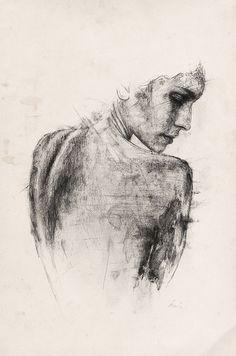Ich weiß gar nicht mehr genau, wann ich auf die Arbeiten von Richard Stark gestoßen bin. Das war auf jeden Fall über Behanceund da gab es jede Menge Bleistift-Portraits zu bewundern. Mittlerweile hat Richard seine Technik, aber auch seinen Zeichenstilver