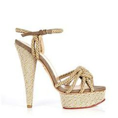"""⚠️ In desperate search of the Charlotte Olympia """"Tangled"""" Rope Platform Sandals! Size If anyone knows where I can find these or are looking to sell some, PLEASE let me know! Charlotte Olympia, Pretty Shoes, Beautiful Shoes, Jimmy Choo, Christian Louboutin, Rope Sandals, Gucci, Chanel, Fashion Heels"""