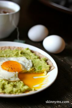 Breakfast, lunch, or dinner--these are awesome! #avocado #breakfast #pizza