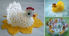 Cómo Hacer una Gallina Tejida a Crochet Fácil – Vídeo, patrones y paso a paso Crochet Dollies, Crochet Lace, Macrame Thread, Crochet Chicken, Learn How To Knit, Small Bottles, Easy Video, Crochet Slippers, Easy Knitting