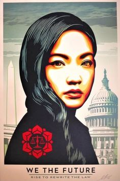 We the Future / Rise to Rewrite the Law par Shepard Fairey (Obey), 2018 Victor Vasarely, Urban Street Art, Urban Art, Art Obey, Shepard Fairey Art, Shepard Fairy, Cool Poster Designs, Propaganda Art, Protest Art
