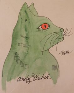 Andy Warhol (Pittsburgh, 1928 - New-York, Sam the Cat Andy Warhol, Illustrations, Illustration Art, Pop Art, Neko, Gatos Cats, Watercolor Cat, Here Kitty Kitty, Vintage Cat