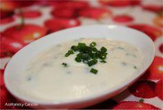 Azafranes y Canelas: Salsa de yogurt y cebollino Cheeseburger Chowder, Yogurt, Dips, Soup, Dressings, Sauces, Gastronomia, Gourmet, Cooking Recipes