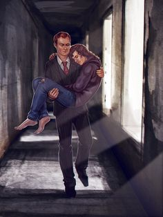 maxkennedy24 <<< I see this as a younger Mycroft carrying Sherlock out of a drug den. ---Mycroft to the rescue!!