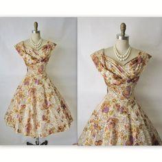 Beautiful 50s floral dress