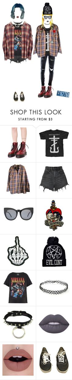 """""""me & bff"""" by witchyrei ❤ liked on Polyvore featuring Dr. Martens, Paul Frank, Timberland, Alexander Wang, Vince, Trunk LTD, Cheap Monday, Forever 21, Lime Crime and Vans"""