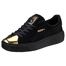 Suede Platform Gold Women's Sneakers