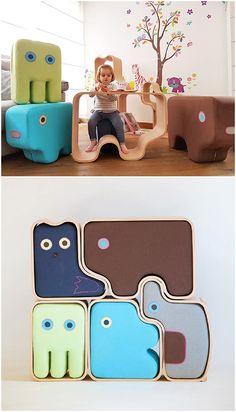 Playful Modular Animal Furniture and Toys For Kids | Animaze