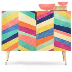 DENY Designs Jacqueline Maldonado Upward 1 Credenza By ($999) ❤ liked on Polyvore featuring home, furniture, storage & shelves, media storage, storage furniture, birch furniture, door furniture, home storage furniture and birch wood furniture