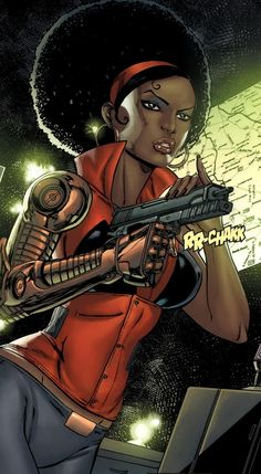"robnorthstar: ""Super héroïne du jour: Superheroin of the day: Misty Knight """