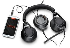 Plantronics RIG Gaming Headset Unveiled With Smartphone Mixer Features - The Plantronics RIG allows users to connect their smartphone into the supplied mixer that enables switching between game chat and taking a phone call ease by a simple touch of the paddle.   Geeky Gadgets