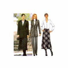Misses Jacket Skirt Pants Butterick 3579 Sewing Pattern