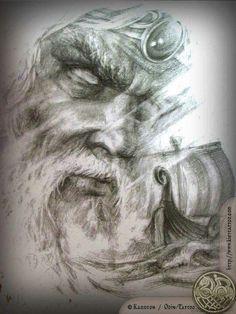 Art Viking, Viking Warrior, Norse Tattoo, Viking Tattoos, Odin And Thor, Nordic Vikings, Warrior Tattoos, Asatru, Viking Tattoo Design