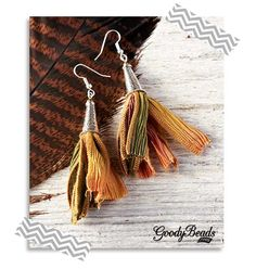 GoodyBeads.com | Blog: How to Use Silk Ribbon in Jewelry - Tutorial on how to make these silk ribbon tassel earrings.