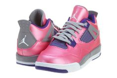 Pink jordans 4 girls #jordans #pink #style #fashion #retro #sneakers