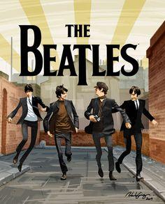 internerd:    A Hard Day's Night by ~kaztorama on deviantART      The Beatles