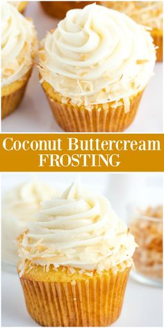 Coconut Buttercream Frosting Coconut Buttercream Frosting Cupcake Project cupcakeproject Easy Frosting Recipes Easy Coconut Buttercream Frosting recipe from RecipeGirl easy coconut buttercream frosting nbsp hellip Coconut Buttercream Frosting Recipe, Coconut Frosting, Coconut Cupcakes, Cake Icing, Coconut Cheesecake, Cheesecake Cupcakes, Mini Cupcakes, Easy Cake Decorating, Decorating Ideas