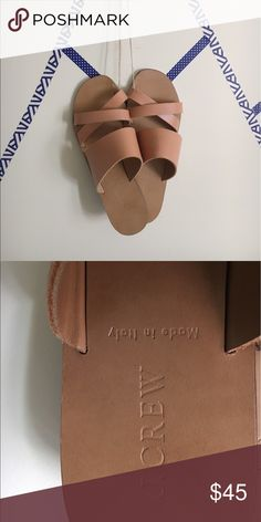 J. Crew Italian Leather Sandals Soft smooth Italian Leather, Camel light leather color, size 7 J. Crew Shoes Sandals