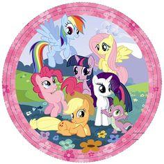 My Little Pony Plates - 23cm Paper Party Plates£2.598pk