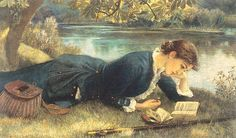 Arthur Hughes The Compleat Angler painting for sale, this painting is available as handmade reproduction. Shop for Arthur Hughes The Compleat Angler painting and frame at a discount of off. Charles Edward, Edward Robert Hughes, Reading Art, Woman Reading, Reading Books, Reading People, Happy Reading, Winslow Homer, Compleat Angler