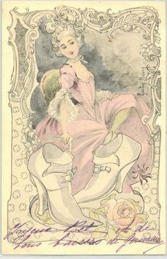 MA163-ART-NOUVEAU-a-s-GASTON-NOURY-FEMME-CHAUSSURES-ESCARPIN-LADY-SHOES