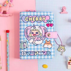 Kawaii Notebooks & Planners For National Stationery Week - DIY Stationery Diy Stationery Paper, Korean Stationery, Kawaii Stationery, Cool Stationary, Stationary Notebook, Cute Notebooks, Journals, Cute School Supplies, Planners