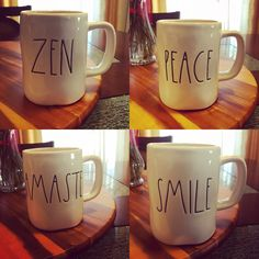 """My """"rest your mind"""" Rae Dunn mugs☕"""
