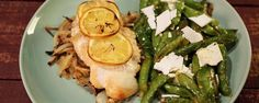 Lemon Chicken with Charred Pea Salad Recipe | The Chew - ABC.com; Sheet Pan Dinner