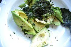 Avocado , mit Koriander