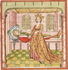 Elisabeth <Nassau-Saarbrücken, Gräfin, 1393-1456> Herpin — Stuttgart (?) - Werkstatt Ludwig Henfflin, um 1470 Cod. Pal. germ. 152 Folio 67r