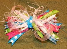 DIY Curly Ribbon Bow, Crafts, Girly, Baby Bow,   I can't wait to put this on my little girl when she gets here! So cute :)