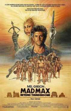 Mad Max Beyond Thunderdome Cast Art Movie Poster 11x17