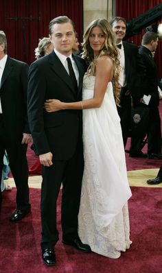 Gisele Bündchen & Leo Di Caprio at the Academy Awards, 2005
