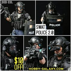 Pre-order at Hobby-Galaxy.com  #swat #specialweaponsandtactics  #police #policeofficer #policeofficers #swatteam #pointman #specialpolice #actionfigure #onesixscale #riotpolice