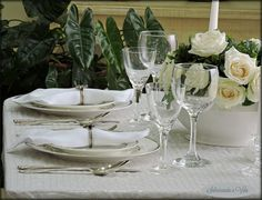 Spring table settings - mesa de Primavera
