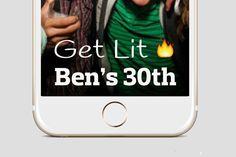 Birthday Snapchat Get Lit Birthday Snapchat Geofilters Birthday Filter On Demand Filter Custom Snapchat Geofilter Snapchat Geo Filter by MustHaveThese on Etsy