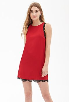Lace Trim Shift Dress | FOREVER21 - 2000060322