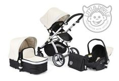 BLACK & WHITE CARRERA SPORT 3-in-1 Baby Travel System/Pushchair/Pram/Buggy/Stroller: Amazon.co.uk: Baby
