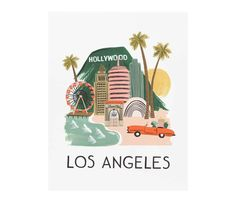 Affiche Los Angeles Rifle Paper