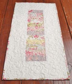 Quilted Table Topper Table Topper Quilt Shabby Chic
