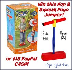 Spring is here!  Time to get outside and have some FUN! Miss Molly Says and I am hosting this super fun Spring Into Fun Giveaway Hop!  Spring is here and it's time to get all those outside toys out and take inventory!  If you need more -...
