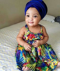 African Print For Babies Ankara Styles For Kids, African Dresses For Kids, African Babies, African Children, African Girl, African Print Fashion, African Fashion Dresses, Moda Kids, Afro