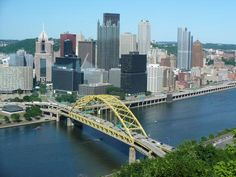 Fort Pitt Bridge Pittsburgh-gives a postcard view of Pittsburgh when you enter from the Parkway West